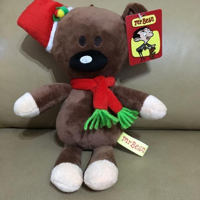 豆豆先生泰迪熊-聖誕版