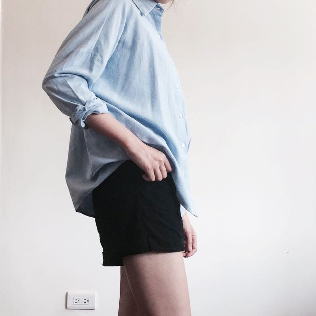 綁帶彈性黑色短褲