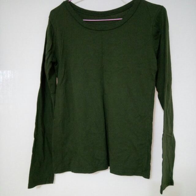 (全新)軍綠色長袖衣