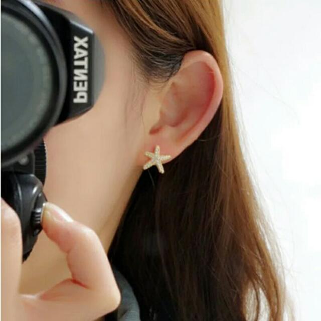 海星夾式耳環 耳夾
