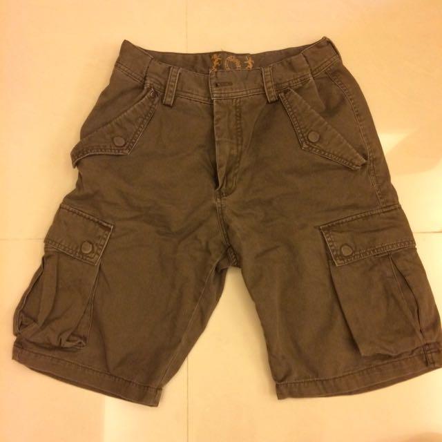 短褲 口袋 工作褲 咖啡色