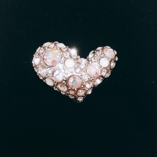 施華洛世奇水鑽 蛋白寶石 愛心 戒指