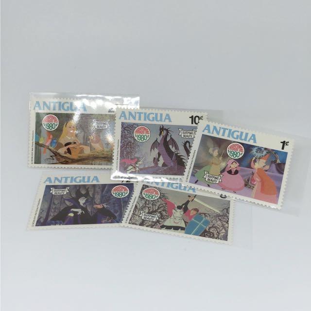 🚫迪士尼 古董郵票 睡美人 奧蘿拉 菲利浦 梅菲瑟