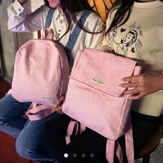 全新 超Q粉色mini後背包