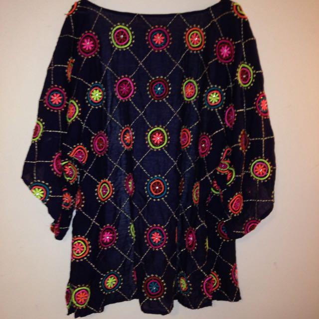 Beaded Purple Kimono