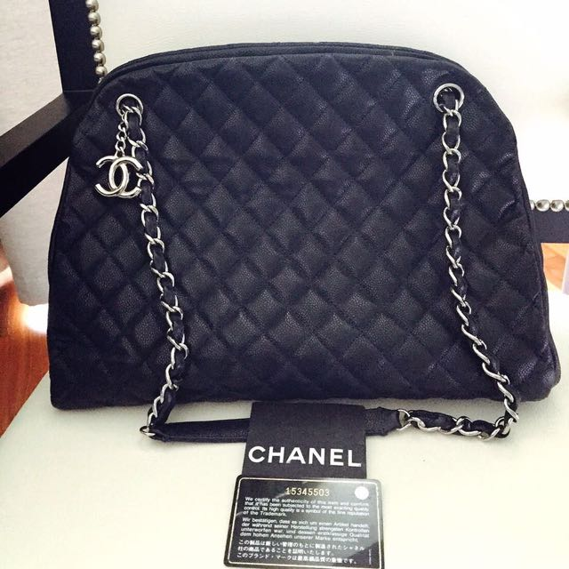 Chanel Mademoiselle Large Caviar #17 Navy Blue