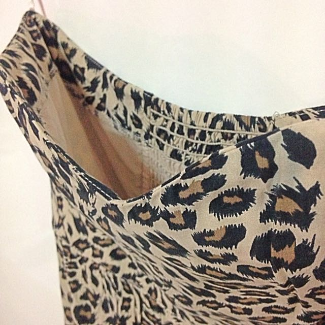041b7c7588a Cotton On Leopard Print Corset Wired Dress