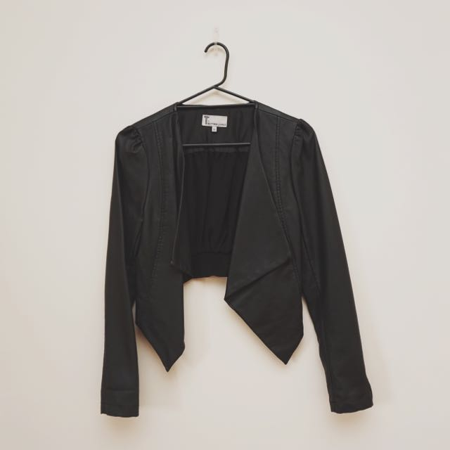 Designer Bettina Liano Leather Look Jacket