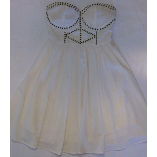 Knight Angel Beaded White Strapless Dress