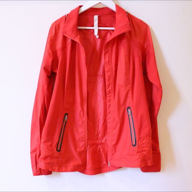 Lululemon Red Windbreaker