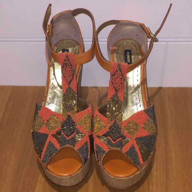 MIMCO Beaded Wedges