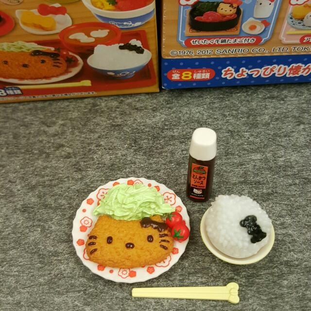 re-ment kitty 盒玩 食玩 3號餐