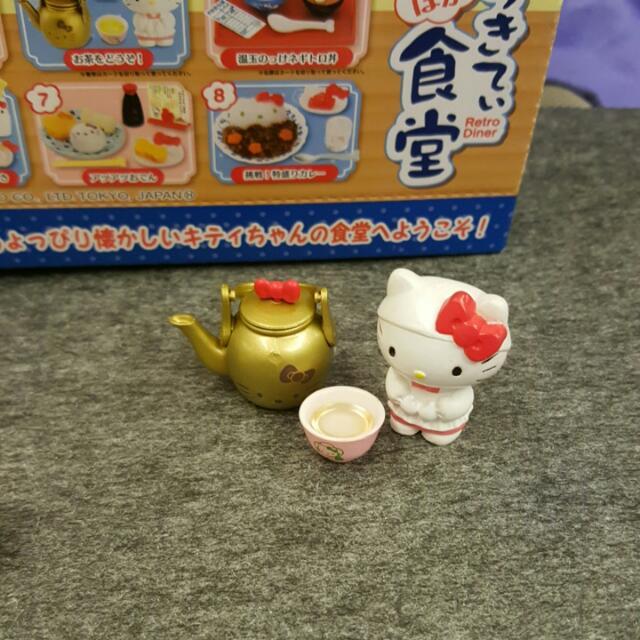 re-ment kitty 盒玩 食玩 4號餐