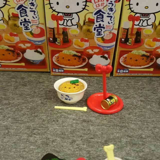 re-ment kitty 食堂 盒玩 食玩 一號餐