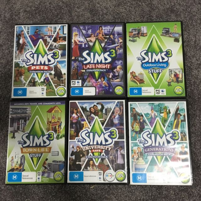 Sims 3 Expansion Packs and Stuff packs