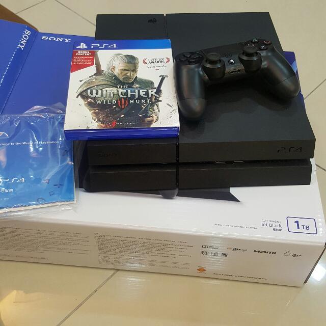 Sony Playstation 4 Ps4 1TB sony Malaysia warranty
