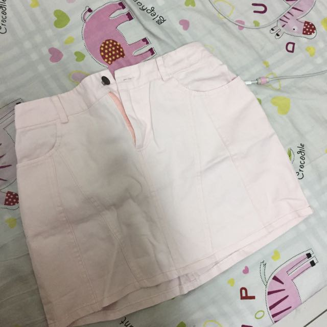 Truda Moda購入の鬆緊粉色短裙