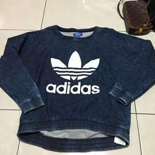Adidas 牛仔藍長t