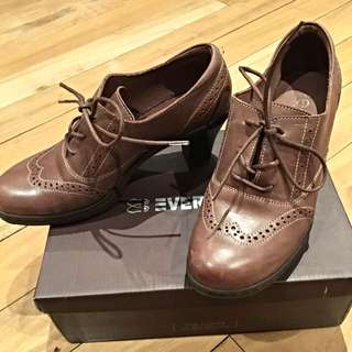 Brown High Heeled Oxfords