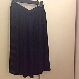 質感100%復古百褶裙