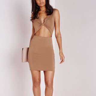 Missguided Camel Knot Front Dress