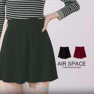 Airspace 高腰雪紡拉鍊短褲(紅)