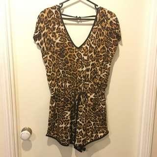 White Closet: Leopard Playsuit
