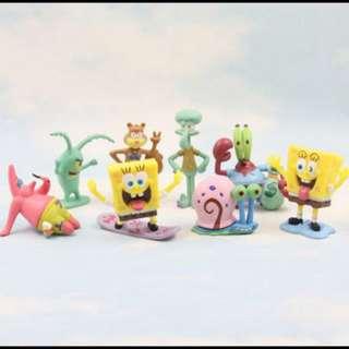 [ Instock ] SpongeBob Aquarium Figurines Set !!