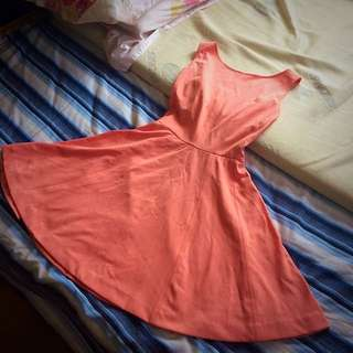 forever21 coral pink dress