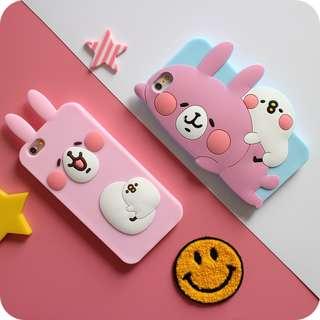 萌治癒 小動物  兔兔 iphone6s 6splus 矽膠軟殼 手機殼