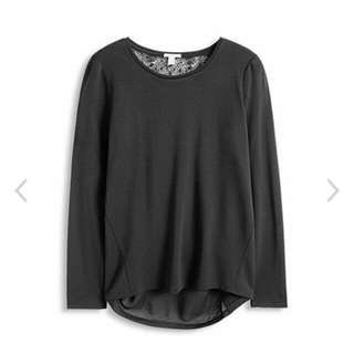 Esprit Mixed Material Top with Elegant Lace