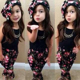 ✔ INSTOCK KID'S CLOTHING FLORAL 3PCS SET