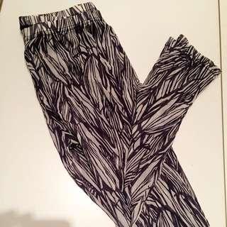 個性紫/透氣棉網內搭褲