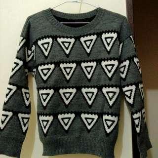 幾何圖形毛衣