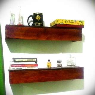 Modern Rustic Hanging Shelves