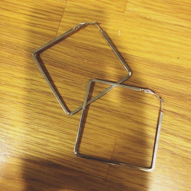 📌方型歐美大耳環