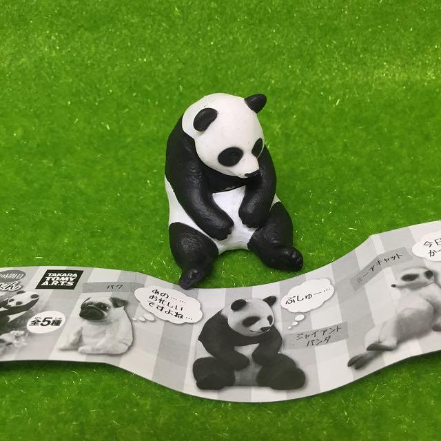 靠背休憩的動物 扭蛋 熊貓