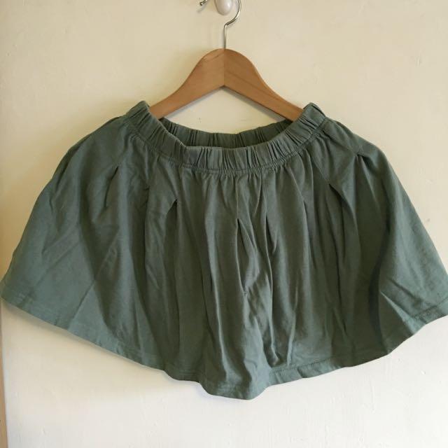 二手🔸綠色 迷你 棉質短裙