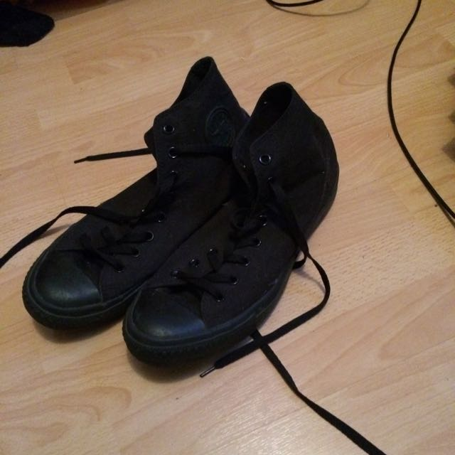 All Black Converse Chucks