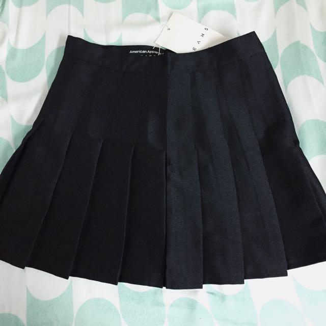 American Apparel 黑色百摺裙