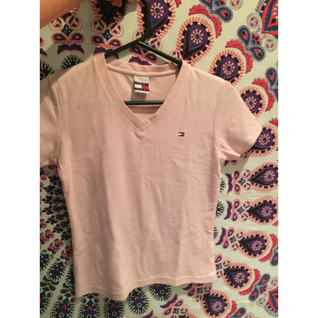 Baby Pink Womens Tommy Hilfiger T Shirt