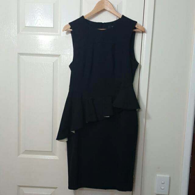 CUE Black Shift With Peplum