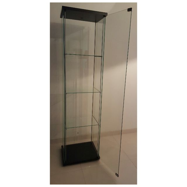 Detolf Glass Door Cabinet Black Brown Imanisr