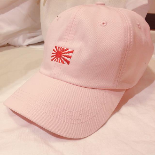 Kyoto Japan life Cap電繡太陽旗老帽(粉色)
