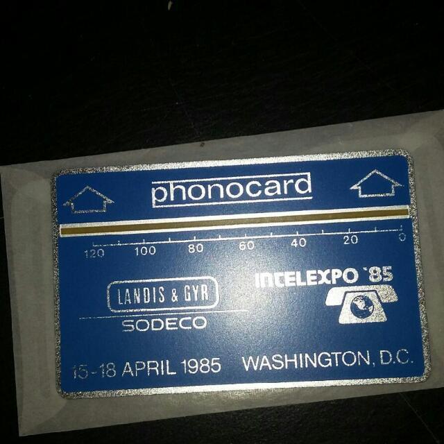 L&G 85 Washington DC Phonocard ( 1st USA ) Used RARE!