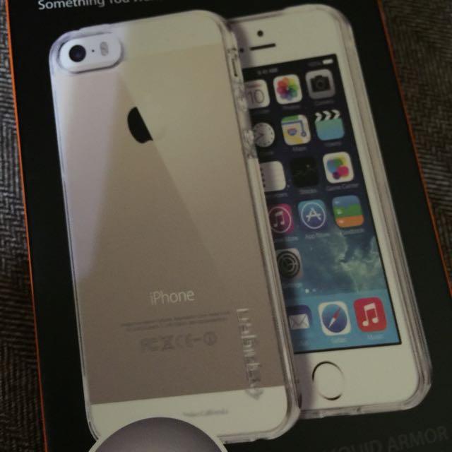 Spigen SGP 水晶透明軟殼 適用 iPhone SE /5s/5