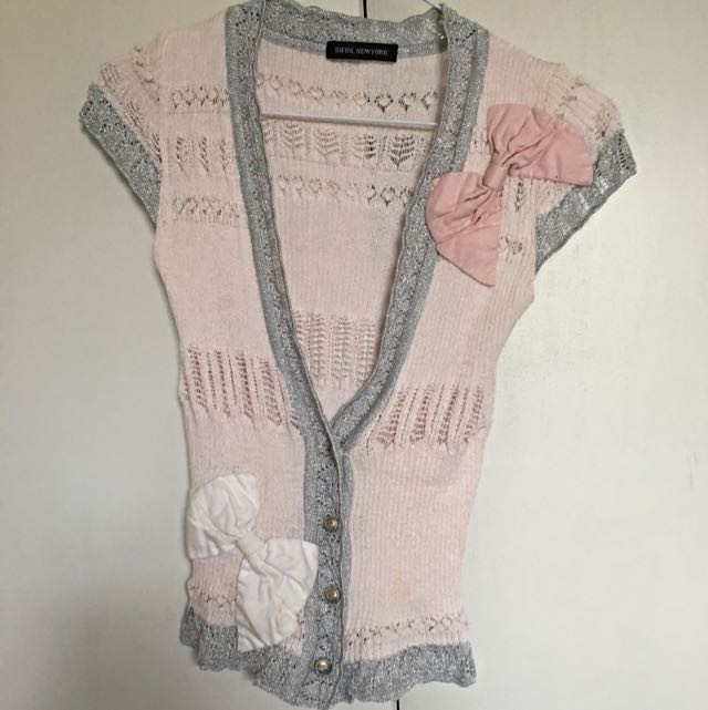 Vintage Short Sleeve Cardigan