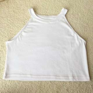 White Crop Top From Sheinside