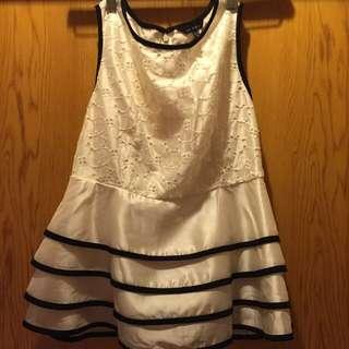 Le  Polka歐美風格無袖雪紡加裡布刺繡顯瘦M尺寸