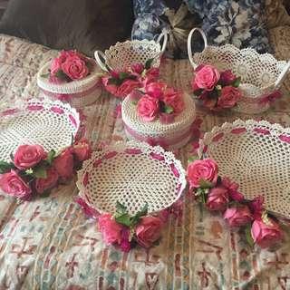 Dulang Hantaran / Basket Lace